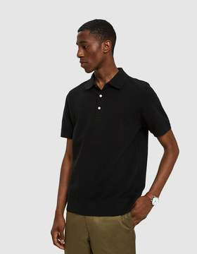 Beams Pique Polo in Black