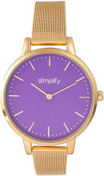 Simplify Gold & Purple The 5800 Mesh Bracelet Watch