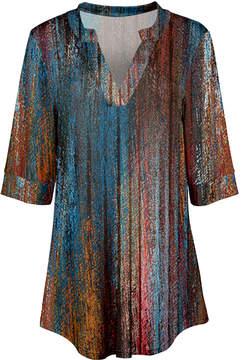 Azalea Blue & Rust Abstract Tunic - Women & Plus