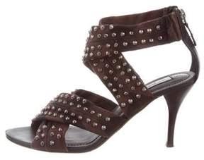 Burberry Studded Woven Sandals