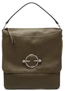 J.W.Anderson Disc Leather Hobo Bag - Womens - Khaki