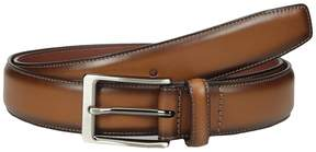 Perry Ellis Portfolio Tan with Burnished Edge Dress Belt Men's Belts