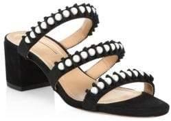 Aquazzura Love Story Leather Sandals