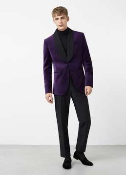 Mango Outlet Velvet shawl blazer