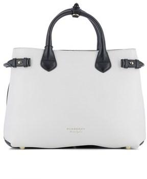 Burberry Women's White Leather Handbag. - WHITE - STYLE