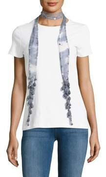 Chan Luu Sequin Embellished Tie-Dyed Scarf