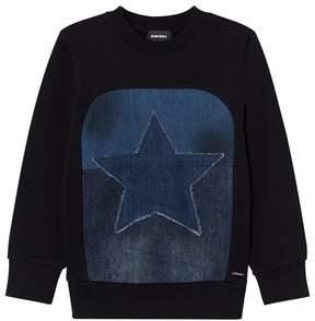 Diesel Black Star Graphic Knit Sweater