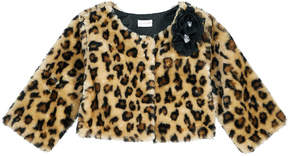 Sweet Heart Rose Animal-Print Faux-Fur Shrug, Toddler Girls (2T-5T)