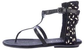 Henry Beguelin Woven Leather Sandals