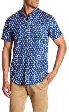 Report Collection Short Sleeve Slim Fit Pineapple Printed Shirt