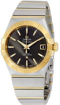 Omega Constellation Co-Axial Grey Dial Stainless Steel with Yellow Gold Men's Watch