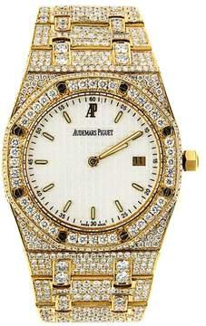 Audemars Piguet Yellow Gold Royal Oak Custom Diamond Watch