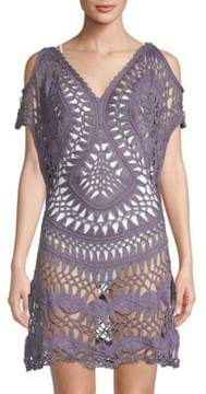 Pilyq Crochet Cold-Shoulder Coverup Tunic