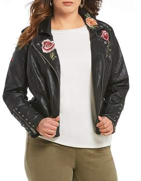 Gibson & Latimer Plus Leather Embroidered Jacket