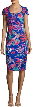 Theia Women's Floral-Print Sheath Dress