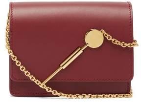 Sophie Hulme Micro Leather Cross Body Bag - Womens - Burgundy