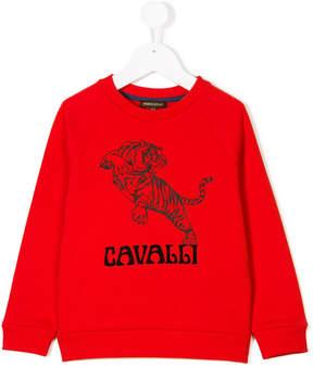 Roberto Cavalli tiger print sweatshirt