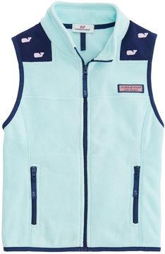 Vineyard Vines Girls Embroidered Shep Vest