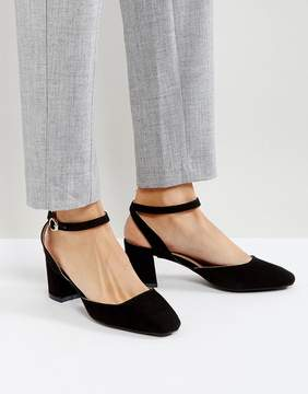 Glamorous Ankle Strap Mid Heeled Shoes