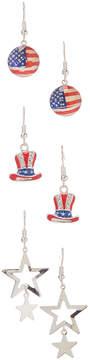 Carole Three-Pair Star Drop Earrings Set