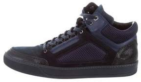 Lanvin Mesh High-Top Sneakers