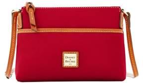 Dooney & Bourke Pebble Grain Ginger Pouchette Shoulder Bag - CRANBERRY - STYLE