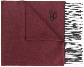 Canali fringed knitted scarf