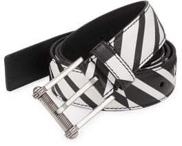 Versace Saffiano Leather Belt