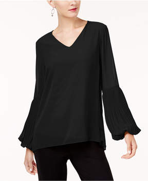 Alfani Pleated-Sleeve Top, Created for Macy's