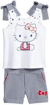 Hello Kitty 2-Pc. Graphic Top & Seersucker Shorts Set, Baby Girls
