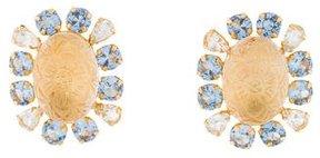 Bounkit Topaz & Quartz Clip-on Earrings