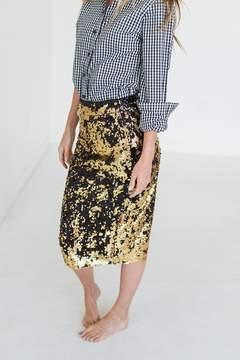 Ampersand Avenue Posh Pencil Skirt - Two Tone