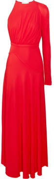 Antonio Berardi One-shoulder Crepe Midi Dress - Red
