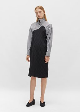 Aalto Wool Shirt Dress Black Size: FR 34