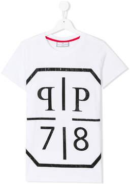 Philipp Plein Junior Teen logo print T-shirt