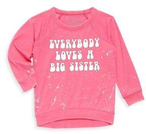 Chaser Toddlers & Little Girl's Big Sister Jersey Tee