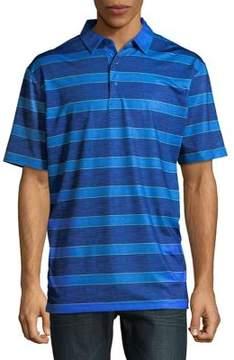Callaway Opti-Dri Heathered Rugby Stripe Short Sleeve Polo Golf Shirt