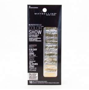 Maybelline Color Show Prints Mirror Effect Nail Stickers 10 Golden Distress.