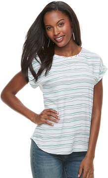Apt. 9 Women's Mixed-Media Crepe Tee