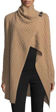 Neiman Marcus Cashmere Shoulder-Buckle Cardigan