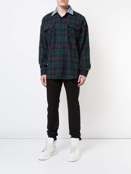 Fear Of God Denim collared flannel shirt