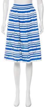 Mira Mikati Embroidered Striped Skirt w/ Tags
