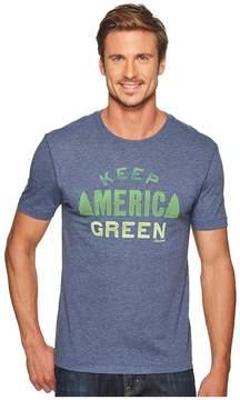 Life is Good Keep America Green Cool Tee Men's T Shirt