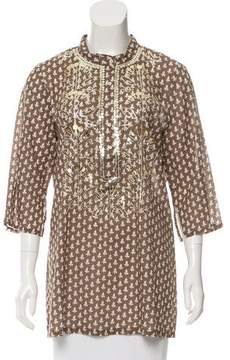 Figue Embellished Printed Tunic