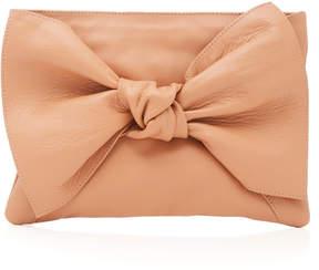 Ulla Johnson Tali Oversized Bow-Embellished Leather Clutch