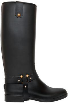 RED Valentino 20mm Rain Pvc Riding Boots