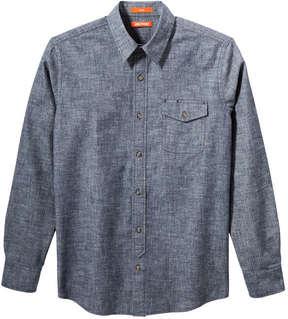 Joe Fresh Men's Button-Front Chambray Shirt, Blue (Size L)