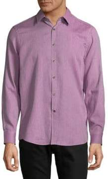 Report Collection Textured Cotton Casual Button-Down Shirt