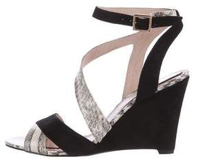 Pour La Victoire Snakeskin Wedge Sandals