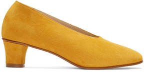 Martiniano Yellow Suede High Glove Heels